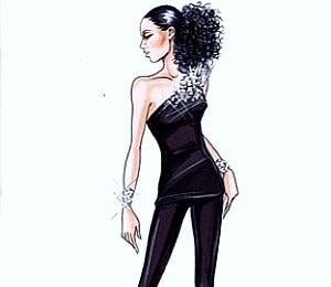 Alicia Keys' Concert Wardrobe Sketches by Armani