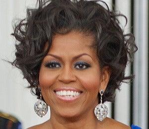 Michelle Obama Dazzles in Blue Eyeshadow