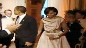 First Lady Wears Designer Byron Lars Dress