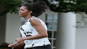 Michelle Obama Gets Physical