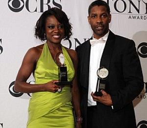 Denzel Washington and Viola Davis Win Tonys