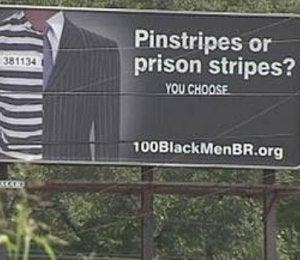 100 Black Men: 'Pinstripes or Prison Stripes'