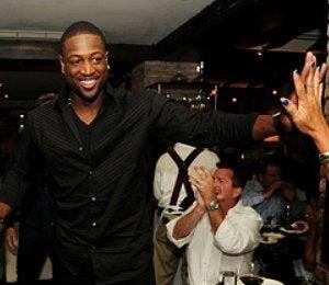 Star Gazing: Dwyane Wade High-Fives for LeBron