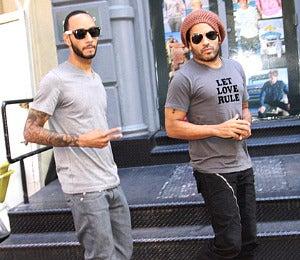 Star Gazing: Swizz Beatz and Lenny Kravitz Cool-Out