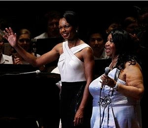 Condoleezza Rice Makes Music with Aretha Franklin