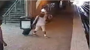 Blind Woman Rescued after Falling onto Train Tracks