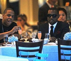 Star Gazing: Kanye West and Jay-Z Do Dinner