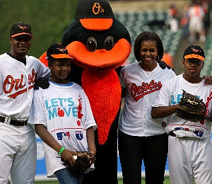 First Lady Diary: Michelle Obama Throws the First Pitch