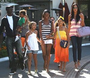 Star Gazing: Kimora and Djimon Enjoy Family Time