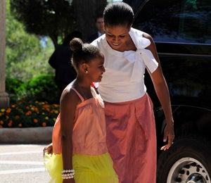 Michelle and Sasha Obama's Vacation in Spain
