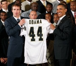 Obama Watch: Pres. Obama Honors New Orleans Saints