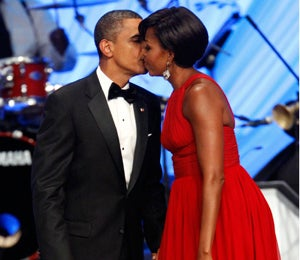Obama Watch: The First Couple Share a Kiss at CBC