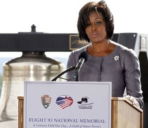 First Lady Michelle Obama Remembers 9/11 Victims