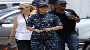 Star Gazing: Rihanna on Set of 'Battleship'