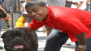 Star Gazing: Tracy Morgan Pets His Pooch, Max