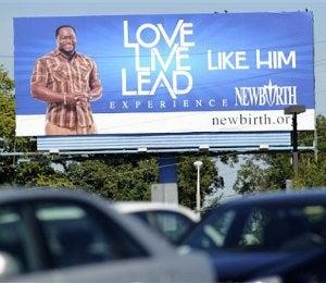 Bishop Eddie Long Billboard Sparks Controversy