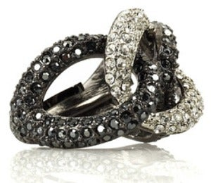 Daily Dose: Crystal Twist Ring by Kenneth Jay Lane