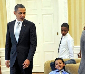 Obama Watch: President Obama Hangs with the Boys