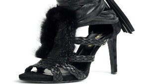 Daily Dose: Emilio Pucci Leather Sandal with Fur Trim