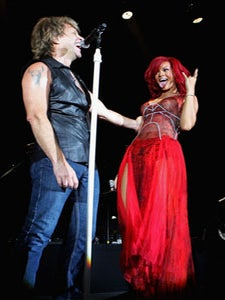 Star Gazing: Rihanna Rocks Out with Bon Jovi