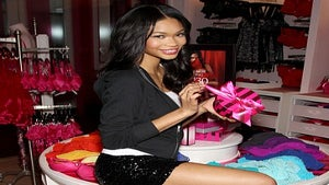 Star Gazing: Chanel Iman at Victoria's Secret Store