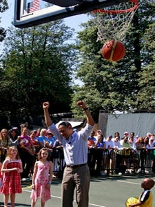 Pres. Obama Gets Stitches after Basketball Injury