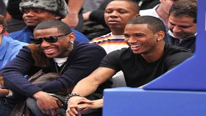 Star Gazing: Trey Songz and Fabolous at Knicks Game