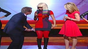 Regis Philbin Gets Touchy with Nicki Minaj