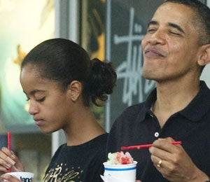 Obama Watch: The Obamas Grab Shave Ice