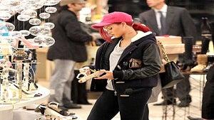 Star Gazing: Rihanna Shops for Shoes at Saks