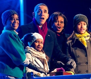 First Lady Diary: The First Family Lights the Xmas Tree