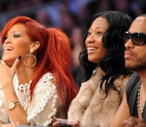 Celebrities Sitting Courtside