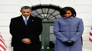 Obama Watch: The First Couple Take Moment of Silence