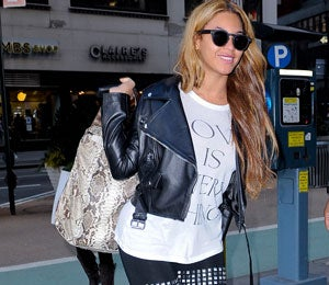 Star Gazing: Beyonce Goes Rocker Chic