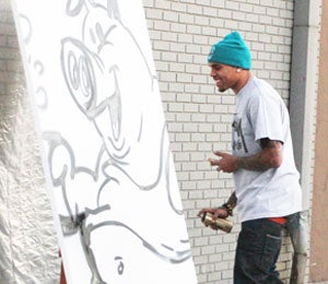 Star Gazing: Chris Brown Makes Art in W. Hollywood