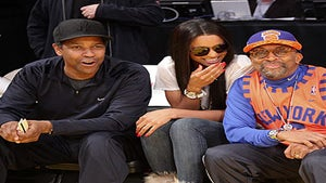 Star Gazing: Denzel, Ciara and Spike Sit Courtside
