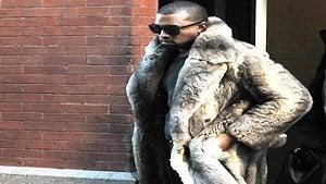 Star Gazing: Kanye West Rocks a Fur for Jay-Z Meeting