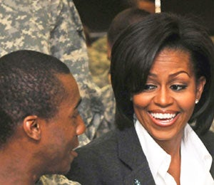 First Lady Diary: Michelle Obama Visits the Troops