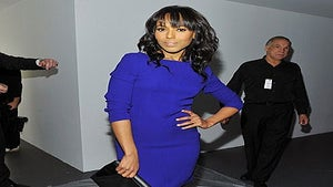 Star Gazing: Kerry Wears Royal Blue to Calvin Klein