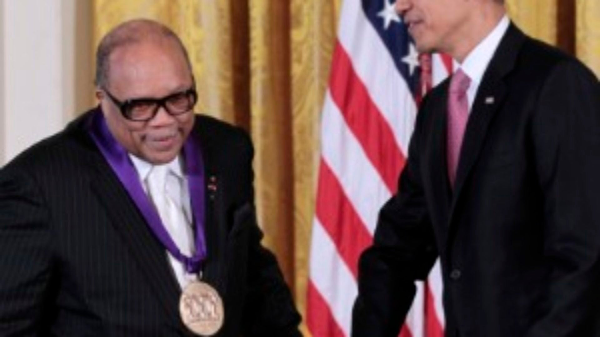 Obama Honors Quincy Jones with Arts Medal