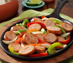 Dine on a Dime: Chicken Smoked Sausage Fajitas