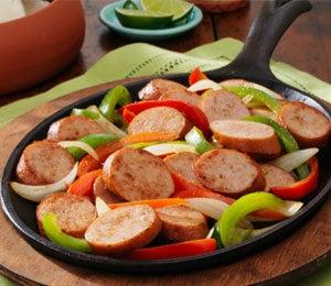 Dine on a Dime: Chicken Smoked Sausage Fajitas