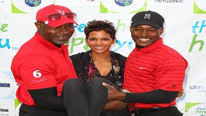 Star Gazing: Dennis, Flex and Halle Berry Tee Off