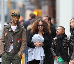 Star Gazing: Alicia Keys and Swizz Take a Family Stroll