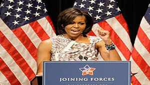 First Lady's Plane Has a Close Call, Lands Safely
