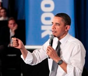 President Obama Hosts Town Hall at Facebook