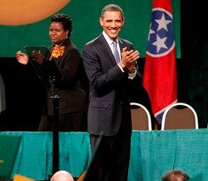 Obama Makes Surprise Visit to Memphis H.S. Graduation