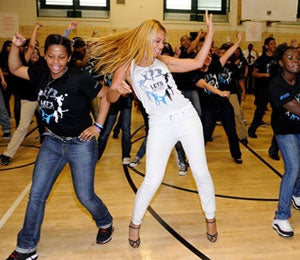Must-See: Beyonce Surprises Harlem Students