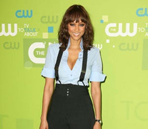 Star Gazing: Tyra Rocks the Red Carpet at CW Upfronts