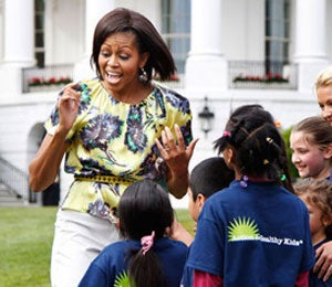 First Lady Diary: Mrs. Obama Has Fun on South Lawn